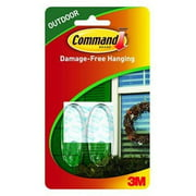 Command Outdoor Window Hooks, Medium, Clear, 4-Hooks (17091CLR-AWES)