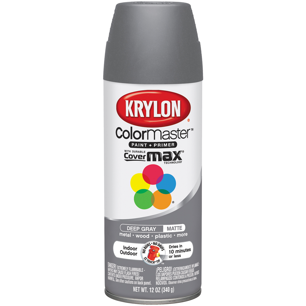 Colormaster Indoor/Outdoor Aerosol Paint 12oz Deep Gray
