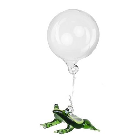 Floating Green Swimming Glass Frog Aquarium Charm by Ganz