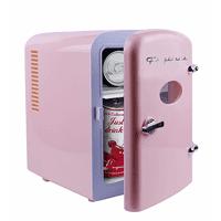 Frigidaire Retro Mini Compact Beverage Refrigerator Pink, 6 Can EFMIS129-PINK - Manufacturer  Refurbished