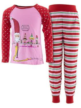 d12ecdd36 Product Image Komar Kids Girls  Santa s Workshop Pink Pajamas