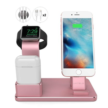 Stand for Apple Watch, Aluminum Apple Watch Charger Dock Airpods Stand Charging Docks Holder for iWatch Series 3/2/1/Airpods/iPhone X/8/8 Plus/7/7 Plus/6S/iPad, Rose Gold Stand for Apple Watch, Aluminum Apple Watch Charger Dock Airpods Stand Charging Docks Holder for iWatch Series 3/2/1/Airpods/iPhone X/8/8 Plus/7/7 Plus/6S/iPad, Rose Gold