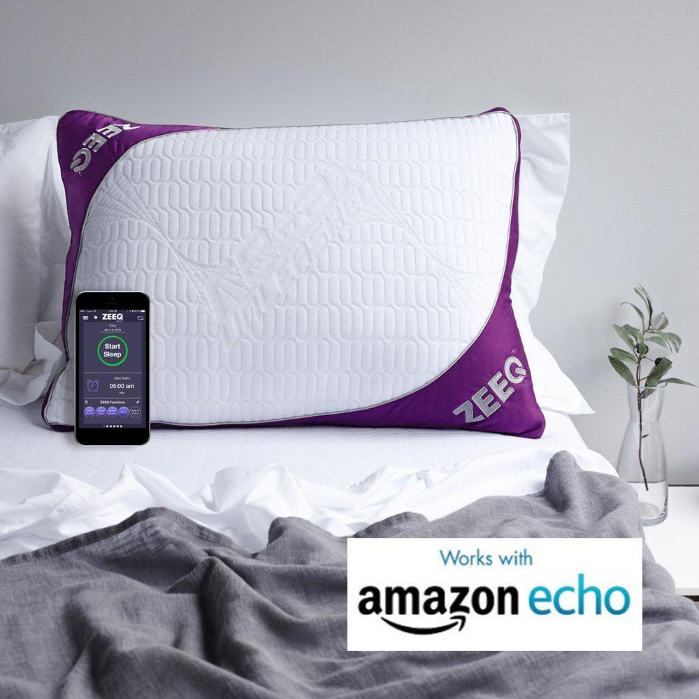 ZEEQ Smart Pillow, Stop Snoring, Sleep Tracker, Sleep Mus...