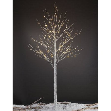 Lightshare 8FT Birch Tree with 132 warm white lights ()