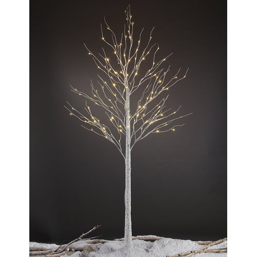 Lightshare 8FT Birch Tree with 132 warm white lights