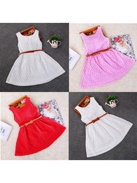 cf9613576f0 Product Image Baby Girls Princess Lace Floral Summer Dress Sleeveless Dress  Kids Dress Skirts