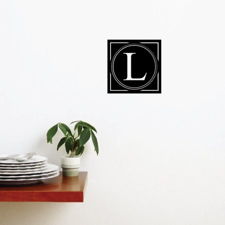 L Monogram Dots Wall Decal Vinyl Decal Car Decal Vd012 36 Inches
