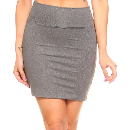 - Fashionazzle Women's Casual Stretchy Bodycon Pencil Mini Skirt