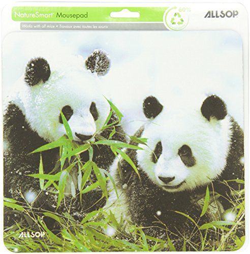 Allsop Nature's Smart Mouse Pad Panda 60 % Recycled Content, Anti-Microbial (29879) by Allsop