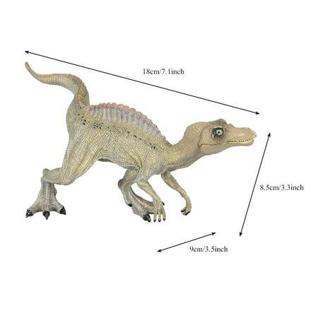 Qiilu Simulation Spinosaurus Modèle Dinosaure Jouet En Plastique Bureau À La Maison Bureau Décor Enfants Cadeau, Modèle De Dinosaure, En Plastique Modèle De Dinosaure - image 7 de 11