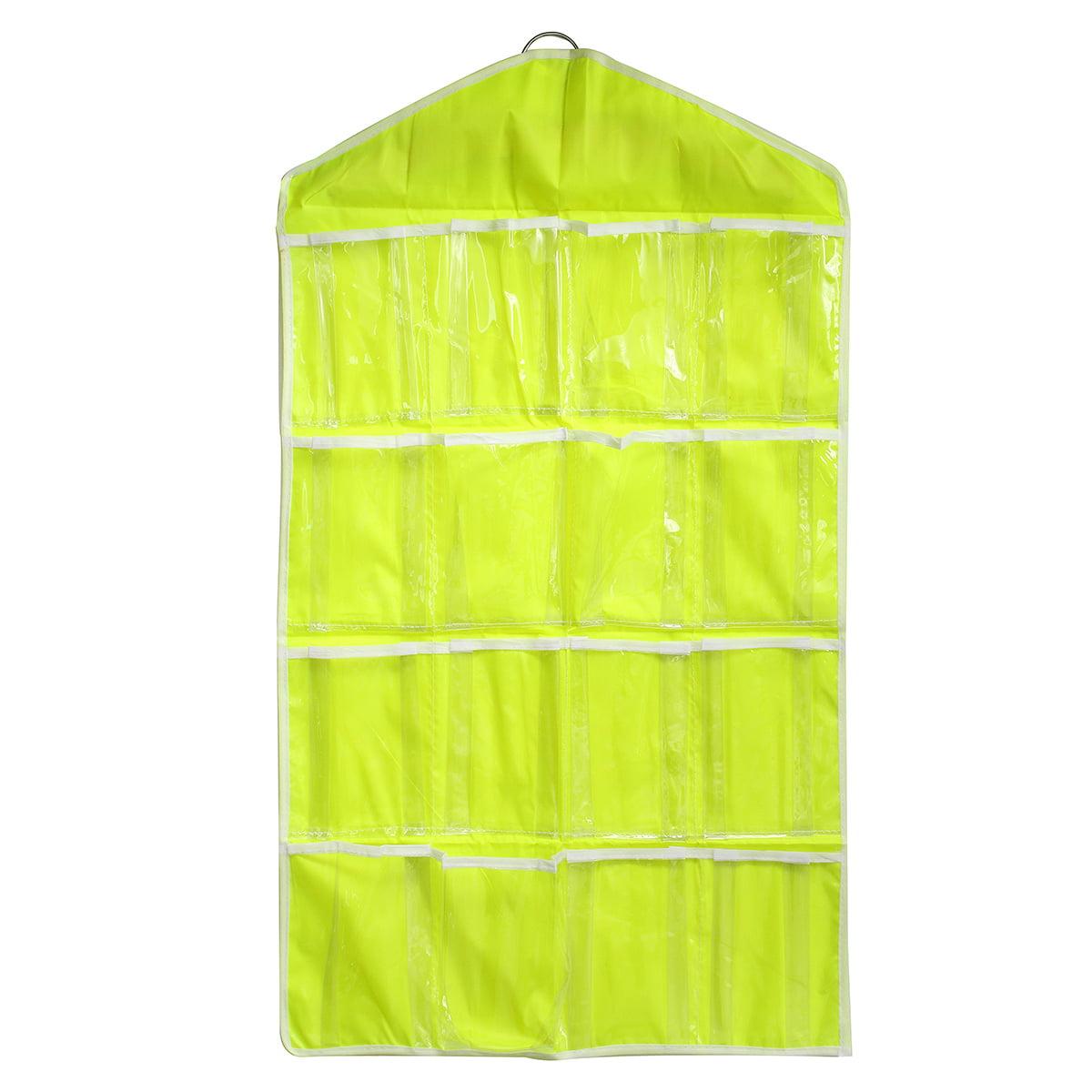 16 Pockets Clear Over Door Hanging Bag Shoe Rack Hanger Underwear