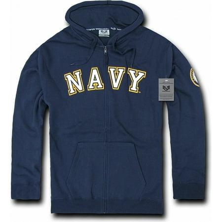 20e52a642 RapDom US Navy Full Zip-Up Mens Hoodie Jacket [Navy Blue - XL]