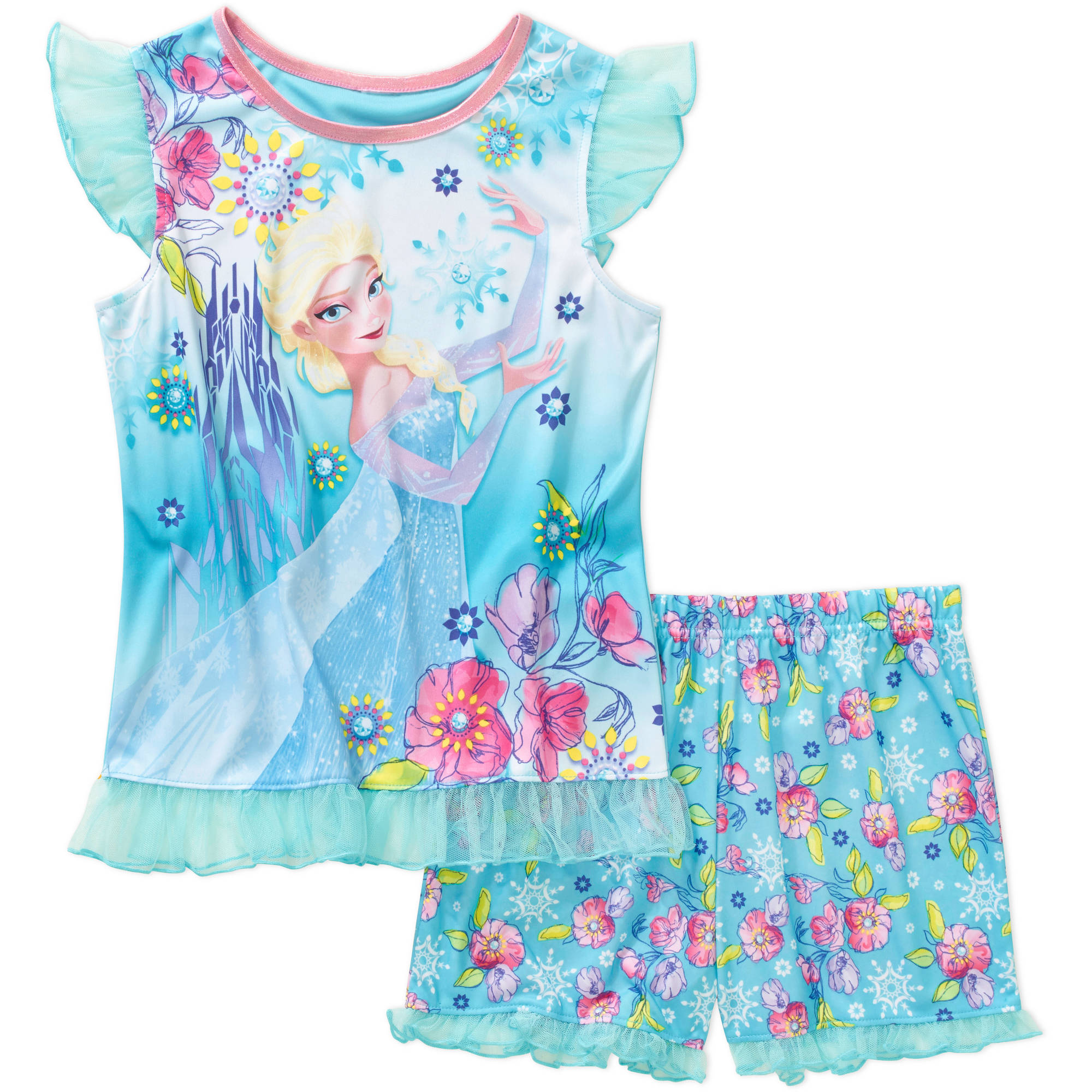 Disney's Frozen Tank Sleep Top and Shorts 2 Piece Pajma Set