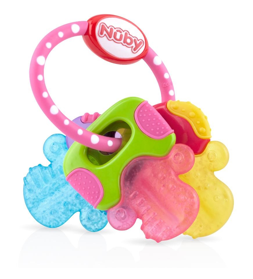 Nuby IcyBite Keys Perfectly Pink Teether