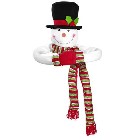 TOYMYTOY Christmas Tree Topper Snowman Hugger Christmas Snowman Top of the Tree Hugger Winter Holiday Home - Snowman Christmas Tree Ideas