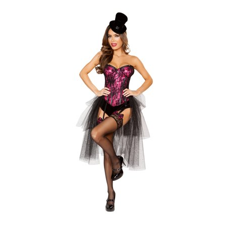 Halloween Costumes For A Group Of Three (Roma Costume 3 Piece Halloween Burlesque Girl Costume Pink/black -)