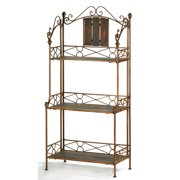 Iron Bakers Rack, French Celtic Industrial Bakers Rack Storage For Kitchens
