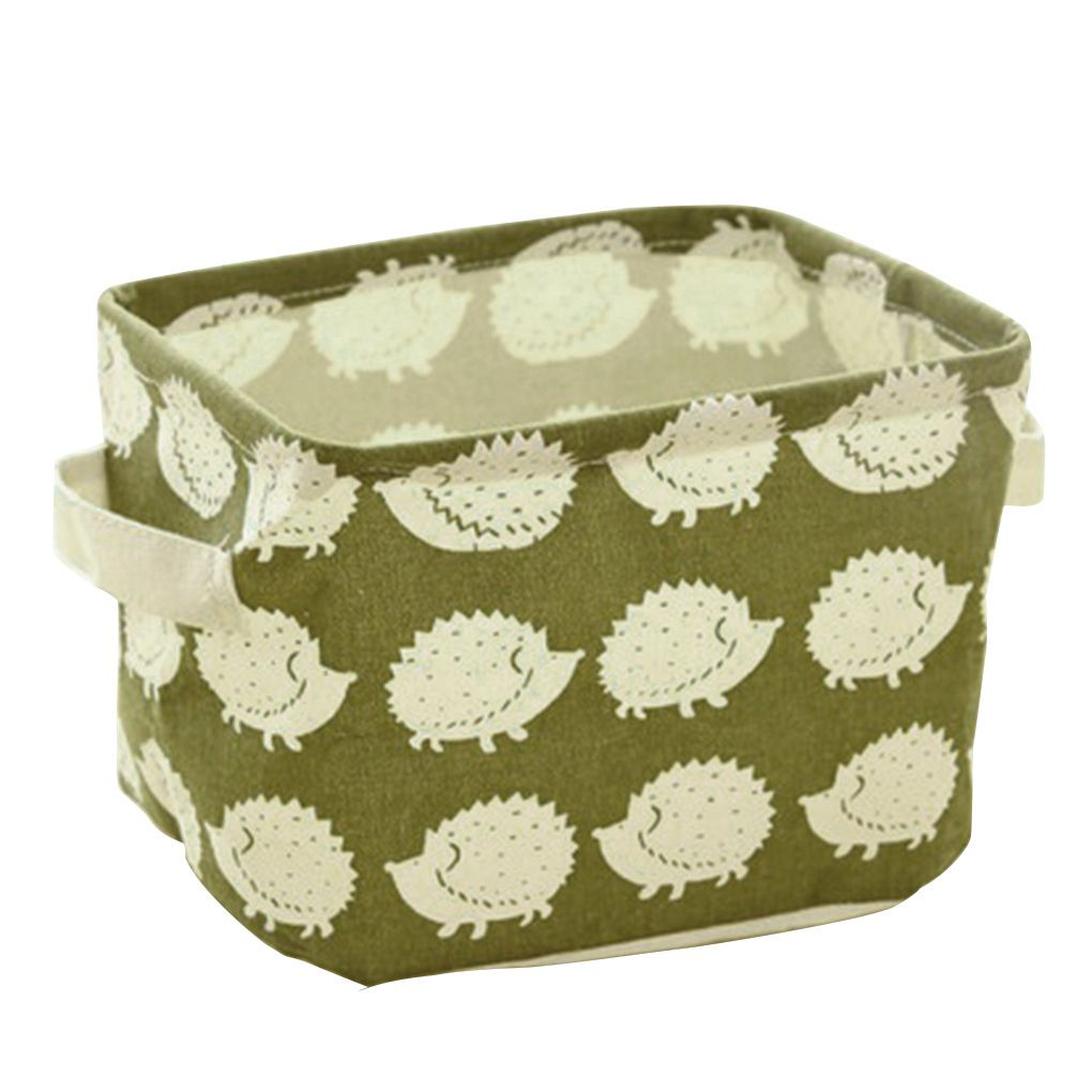 Cotton Blend Linen Collapsible Storage Bin Basket Laundry Box With Totes Case
