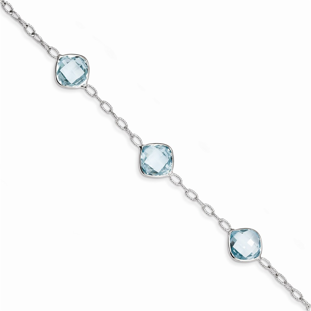Sterling Silver Blue Topaz Bracelet by