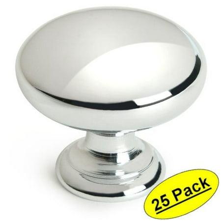 Cosmas 4950CH Polished Chrome Cabinet Hardware Round Mushroom Knob - 1-1/4