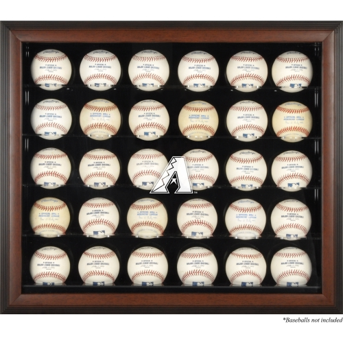 Arizona Diamondbacks Fanatics Authentic Logo Brown Framed 30-Ball Display Case - No Size