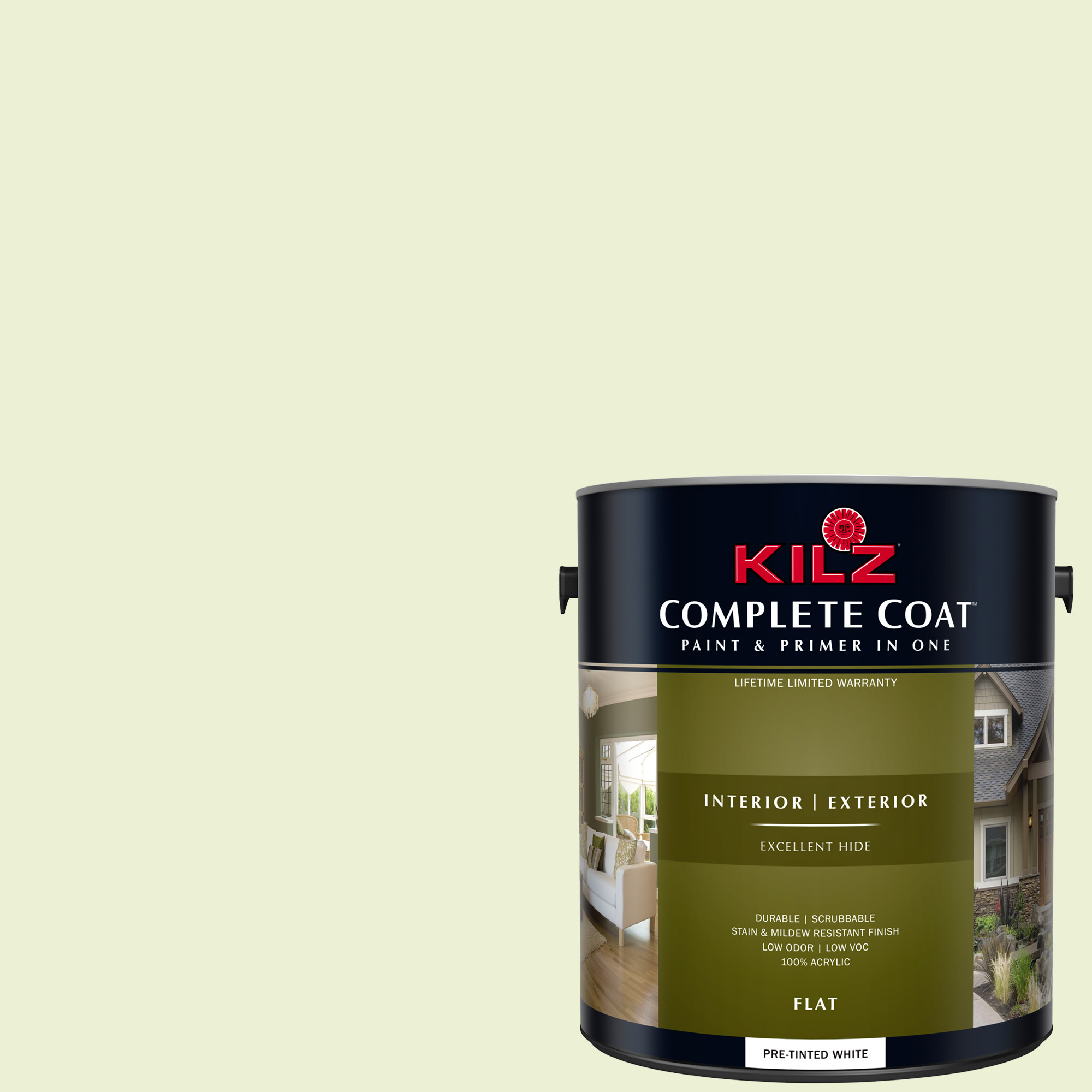 KILZ COMPLETE COAT Interior/Exterior Paint & Primer in One #LG210-01 In Paradise