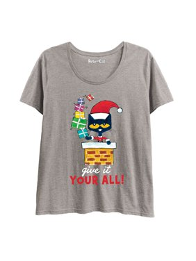 Product Image Pete the Cat At Chirstmas We Give It Our All!-LADIES Plus  Size Scoop bdaa578d2