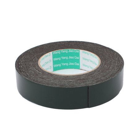 30mm x 1mm Black Dual Sided Self Adhesive Sponge Foam Tape 10M Length - image 1 of 2
