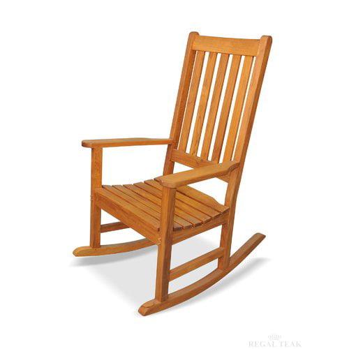 regal teak carolina rocking chair - walmart