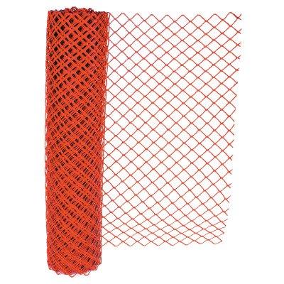 Chain Link Safety Fence, 4 ft x 100 ft, Orange