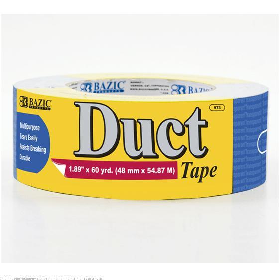 "BAZIC Blue Duct Tape 1 7/8"" x 60 Yards 12Pcs"