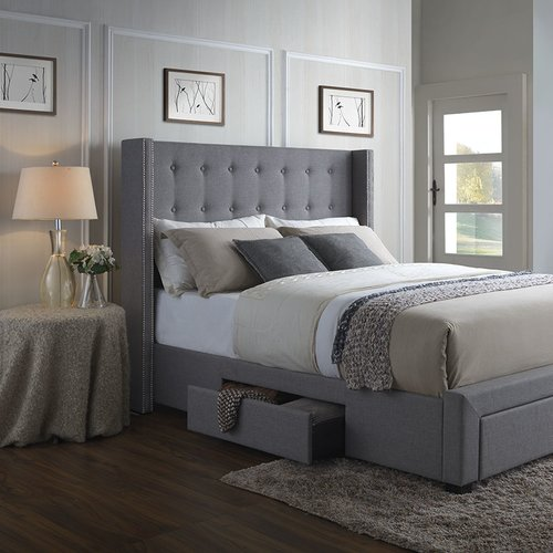 Merveilleux Darby Home Co Thousand Oaks Savoy Upholstered Storage Panel Bed