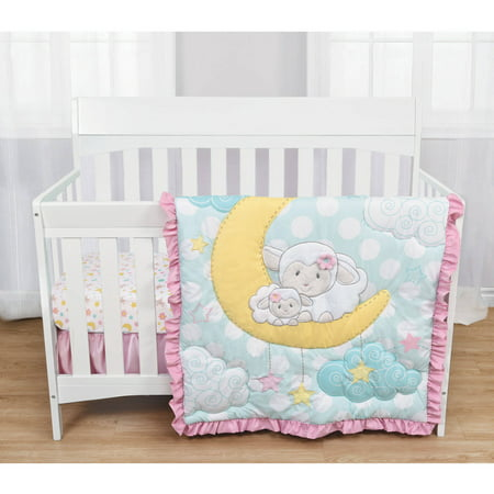 baby s by nemcor 3 crib bedding set quot sleepy 87354
