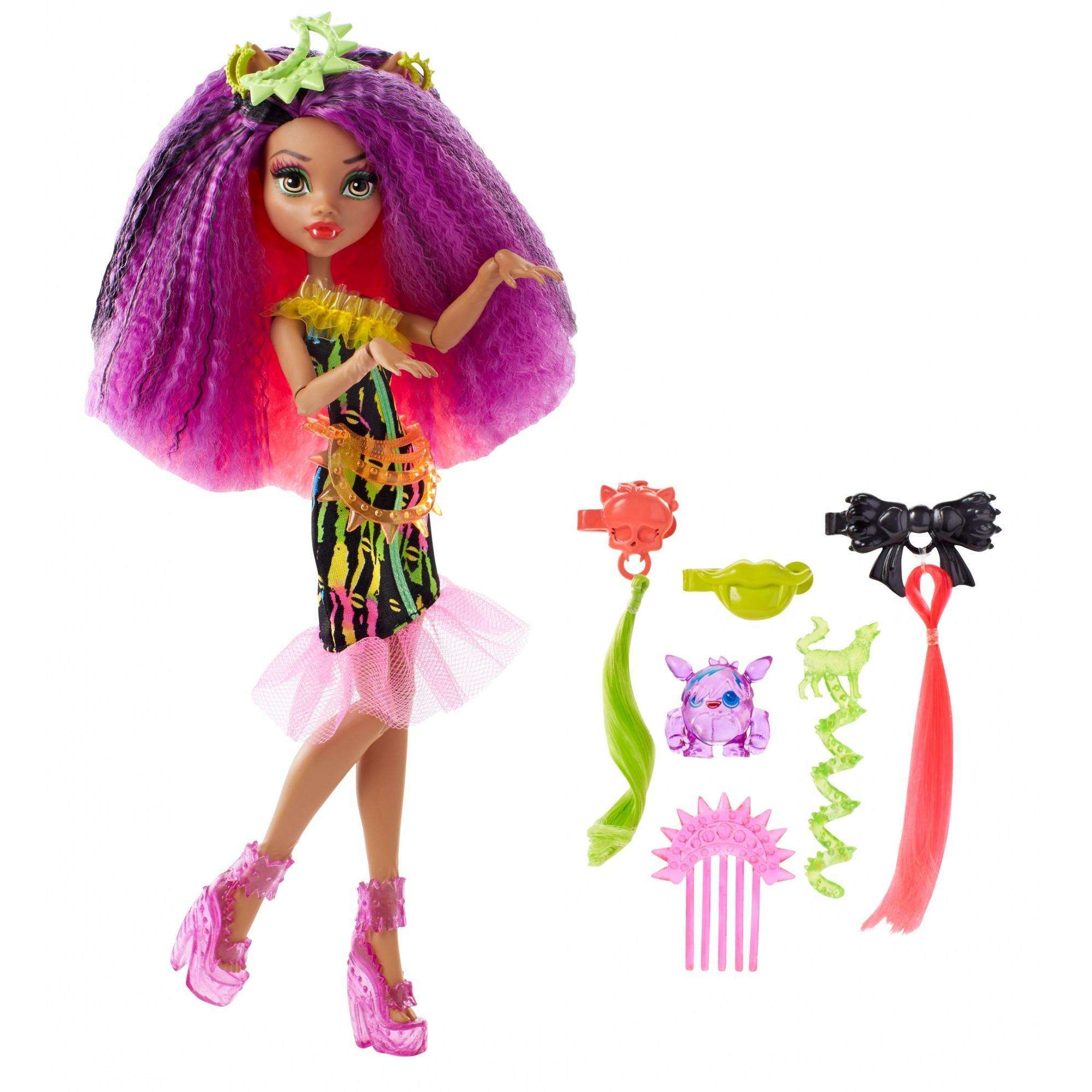 Monster High Electrified Monstrous Hair Ghouls Clawdeen Wolf Doll by MATTEL INC.
