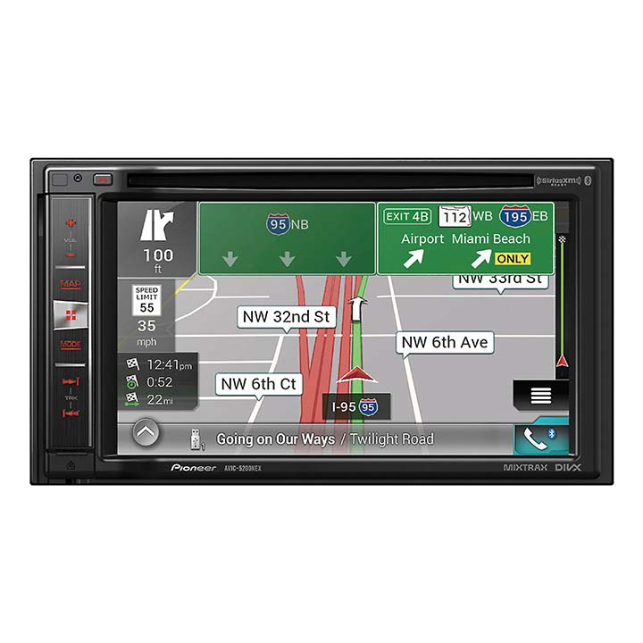 "Pioneer 6.2"" D.Din Nav Receiver w/BTApple CarPlay"
