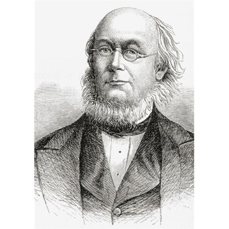 Posterazzi DPI1862961LARGE Horace Greeley 1811 to 1872. American Editor Founder of the Liberal Republican Poster Print, 24 x 34 - image 1 of 1