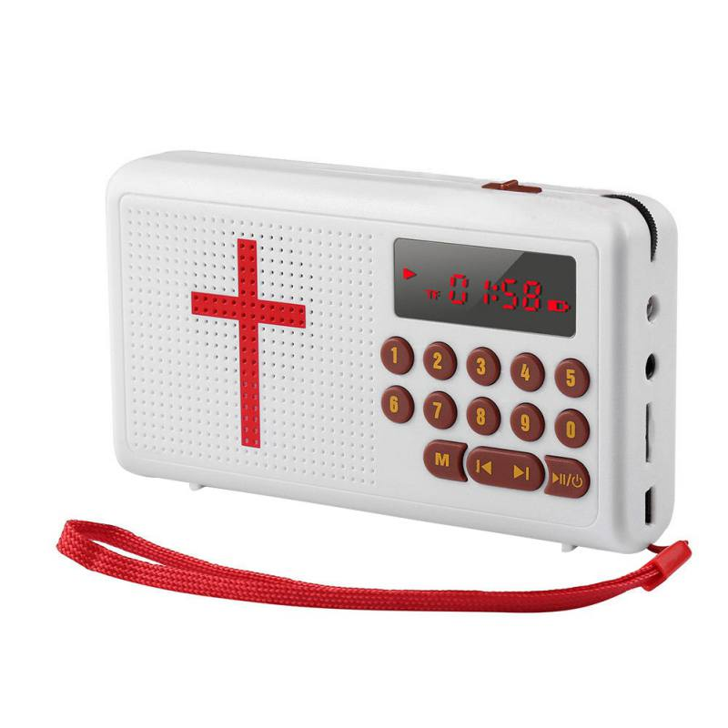 Audio Bible Player - English Standard Version Electronic Bible Talking King(Battery not included),Red
