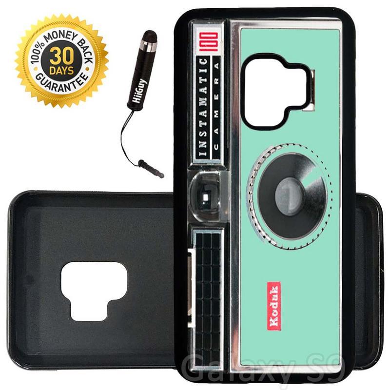 Custom Galaxy S9 Case (Kodak Instamatic Mint) Edge-to-Edge Rubber Black Cover Ultra Slim | Lightweight | Includes Stylus Pen by Innosub