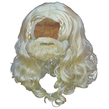 Viking Beard Costume (Blonde Viking Wig and Beard Set Halloween Costume)
