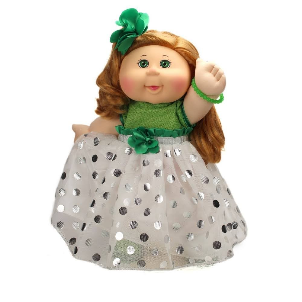 Cabbage Patch Doll Strawberry Blonde, White and Green Dress, 2017 Limited Edition by Wicked Cool Toys
