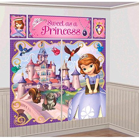 Disney Sofia The First Princess Birthday Party Scene Setters Decoration (5 Pack), Multi Color, 59