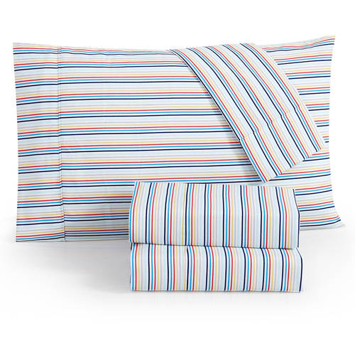Click here to buy ***DISCONTINUED*** VCNY Home Multi-Color Stripe 200 Thread Count Cotton 3 4-Piece Kids... by Victoria Classics.