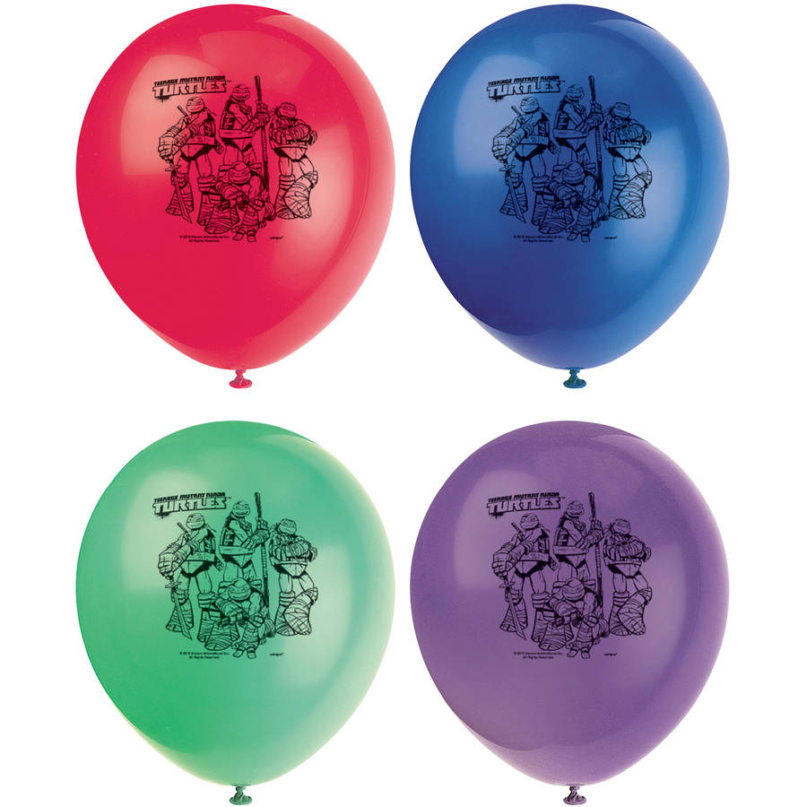 "12'"" Latex Teenage Mutant Ninja Turtles Balloons, 8ct"