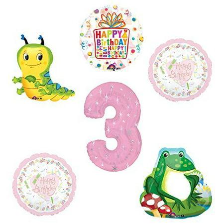 Garden Tea Party Dragonfly Caterpillar Frog 3rd Birthday Party - Caterpillar Party Supplies