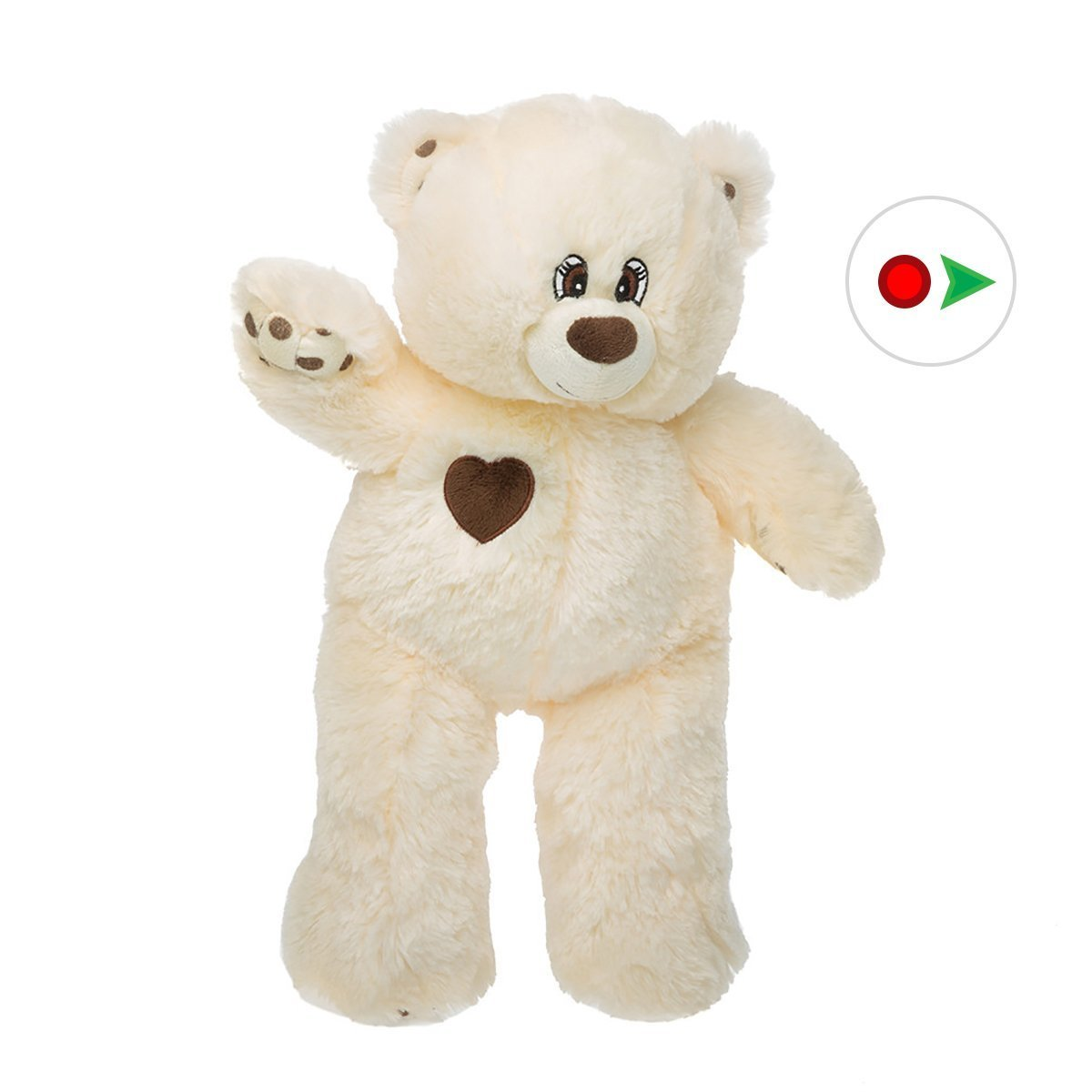 Record Your Own Plush 16 inch Sweet Heart Bear - Ready To Love In A Few Easy Steps