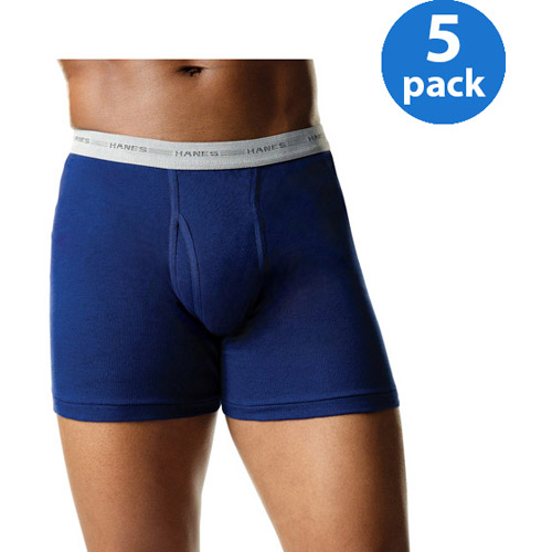 Hanes Men's FreshIQ Comfort Flex Waistband Boxer Brief 5-Pack