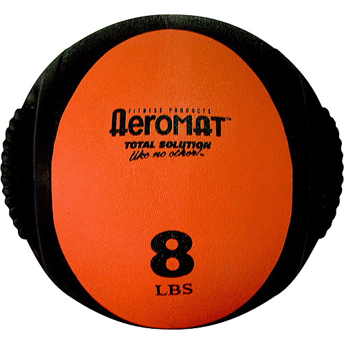 Aeromat Dual Grip Power Medicine Ball, 8 lbs