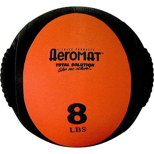 Aeromat Dual Grip Power Medicine Ball, 8 lbs