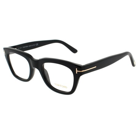Tom Ford TF 5178 001 50mm Shiny Black Square Eyeglasses (Tom Ford Sunglass Lens)