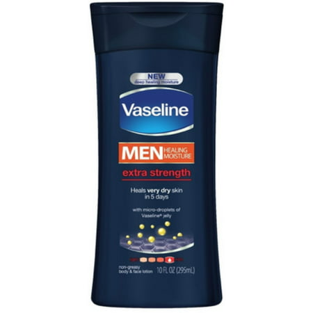 Vaseline Men Men Body & Face Extra Strength Lotion 10 oz (Pack of 2)](Fake Body)